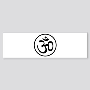 Aum Black Bumper Sticker