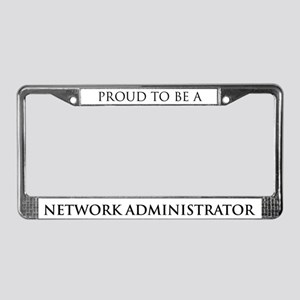 Proud Network Administrator License Plate Frame