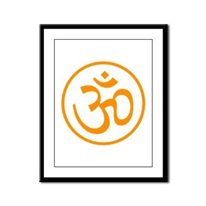 Aum Orange Framed Panel Print