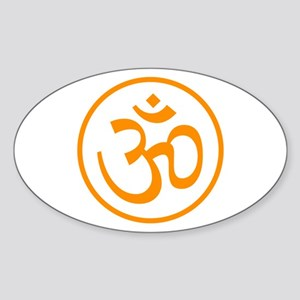 Aum Orange Oval Sticker