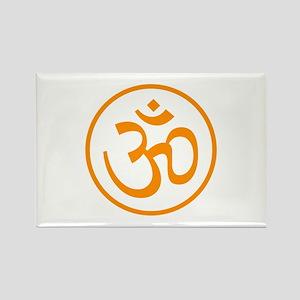 Aum Orange Rectangle Magnet