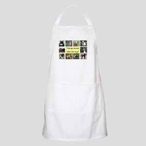 Therapy Animals Work For Hugs BBQ Apron