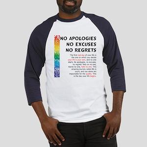 No Apologies Baseball Jersey