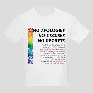 No Apologies Kids Light T-Shirt