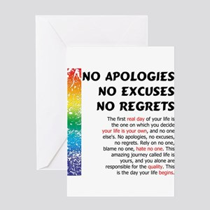 Apology greeting cards cafepress no apologies greeting card m4hsunfo
