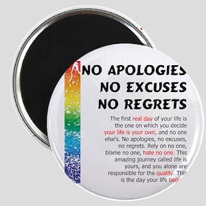No Apologies Magnet