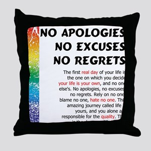 No Apologies Throw Pillow