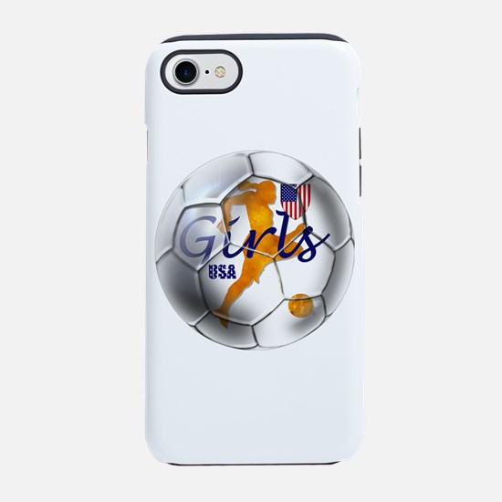 USA Girls Soccer iPhone 7 Tough Case