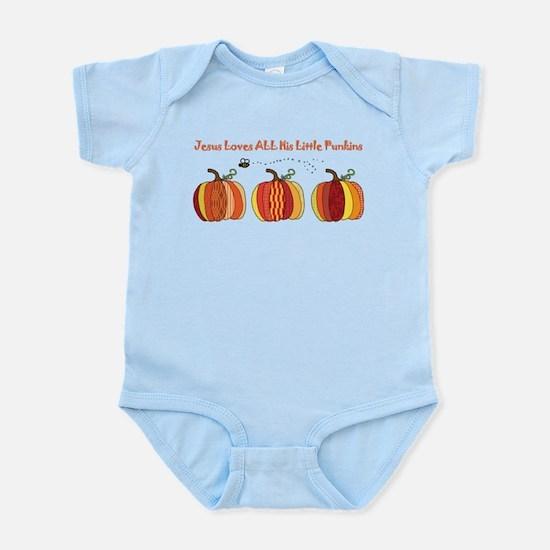 Jesus Loves All His Little Pu Infant Bodysuit