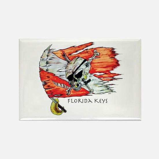 Florida Keys Diving Rectangle Magnet