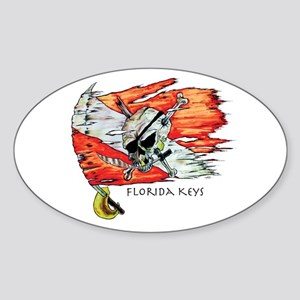 Florida Keys Diving Sticker (Oval)