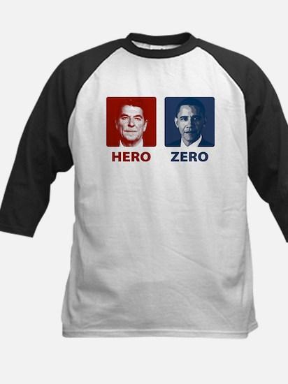 Obama Hero or Zero Kids Baseball Jersey