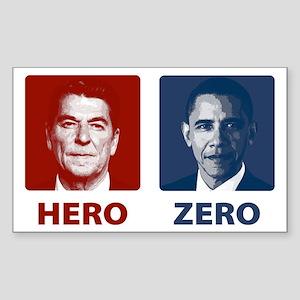 Obama Hero or Zero Rectangle Sticker