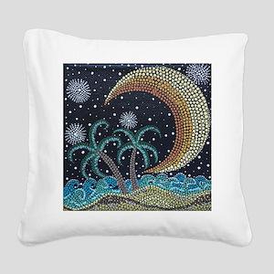 MoonShine Square Canvas Pillow