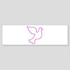 Pink Dove Bumper Sticker