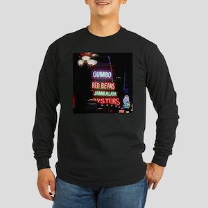 Neon Gumbo Long Sleeve Dark T-Shirt