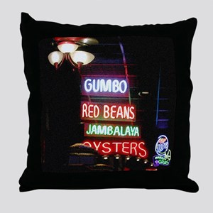 Neon Gumbo Throw Pillow