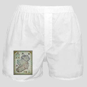 Ireland Map - Irish Eire Erin Histori Boxer Shorts
