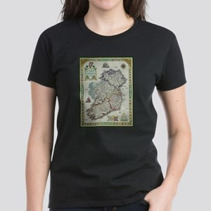 Ireland Map - Irish Eire Erin Historic Map T-Shirt