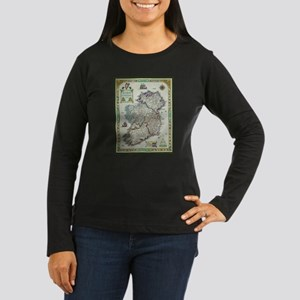 Ireland Map - Irish Eire Erin Long Sleeve T-Shirt