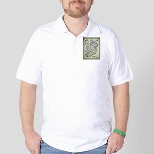 Ireland Map - Irish Eire Erin Historic Golf Shirt
