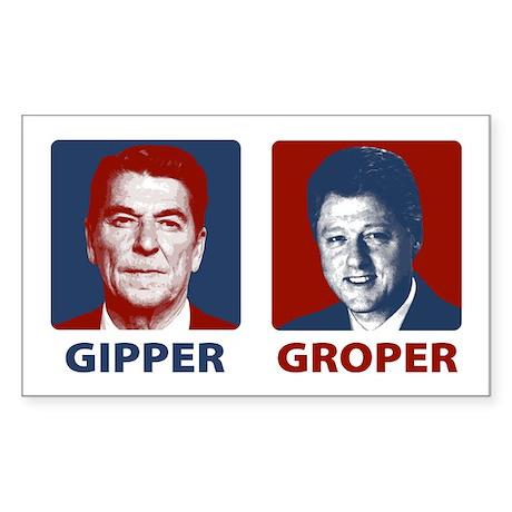 Gipper or Groper Rectangle Sticker