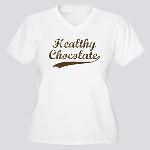 Healthy Chocolate Women's Plus Size V-Neck T-Shirt