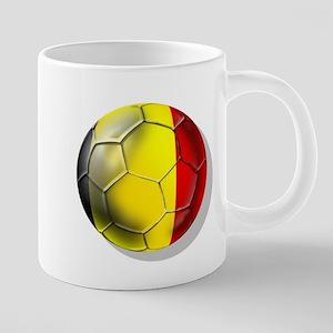 Belgium Football 20 oz Ceramic Mega Mug