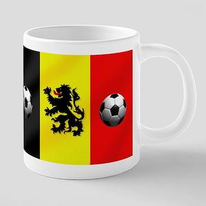 Belgian Football Flag 20 oz Ceramic Mega Mug