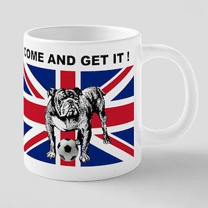 British Football Bulldog 20 oz Ceramic Mega Mug