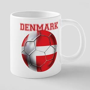 Denmark Soccer 20 oz Ceramic Mega Mug
