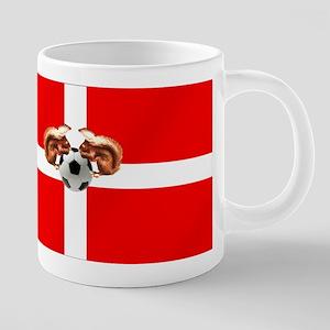 Danish Football Flag 20 oz Ceramic Mega Mug