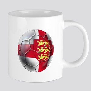 English 3 Lions Football 20 oz Ceramic Mega Mug