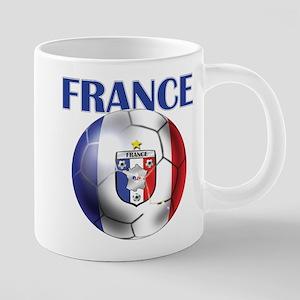 France Soccer Football 20 oz Ceramic Mega Mug