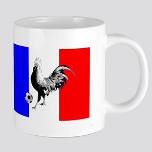 French Football Flag 20 oz Ceramic Mega Mug