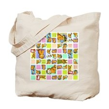 Classic Garfield Squares Tote Bag