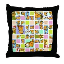 Classic Garfield Squares Throw Pillow
