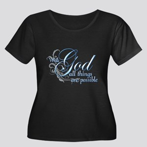 With God All Things are Possi Women's Plus Size Sc