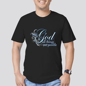 With God All Things are Possi Men's Fitted T-Shirt