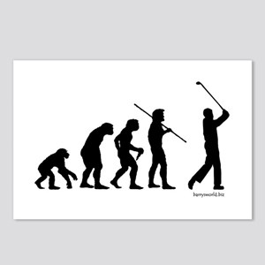 Golf Evolution Postcards (Package of 8)