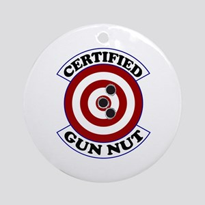 Certified Gun Nut Ornament (Round)