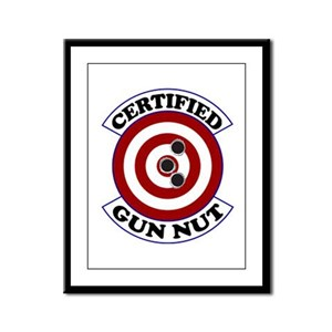 Certified Gun Nut Framed Panel Print