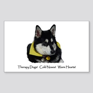Therapy Dogs! Cold Noses! Warm Hearts! Sticker (Re