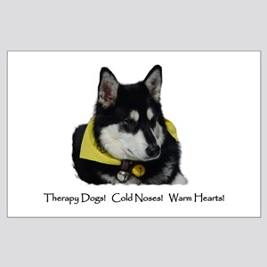 Therapy Dogs! Cold Noses! Warm Hearts! Large Poste