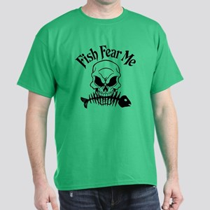 Fish Fear Me Skull Dark T-Shirt