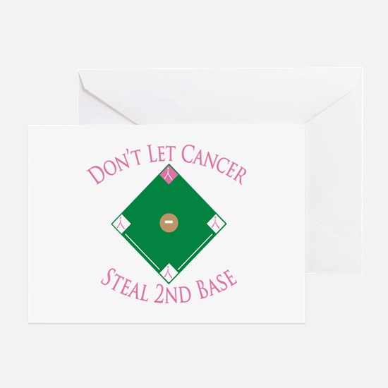 Cancer Steal 2nd Base Greeting Card