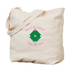 Cancer Steal 2nd Base Tote Bag
