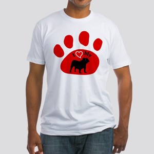 Old English Bulldog Fitted T-Shirt