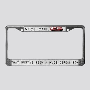 Cereal Box License Plate