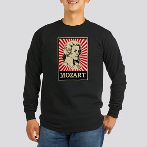 Pop Art Mozart Long Sleeve Dark T-Shirt